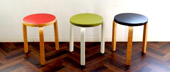 artek / Alvar Aalto Stool 60 vintege stool